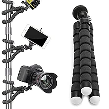 Digital Phone Tripod, Portable & Adjustable Camera Stand Holder Universal Clip For Iphone, Android Phone, Cam & Sports Camera Go Pro, Self Timer For Selfie 4