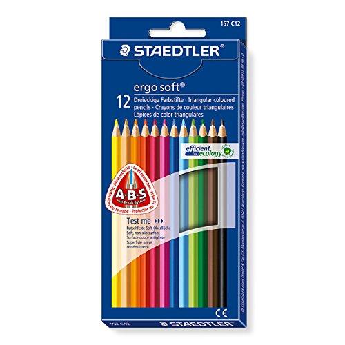 Ergosoft Handle (Staedtler Ergosoft 12 Triangular Coloured Pencils 157 C12 by Staedtler)