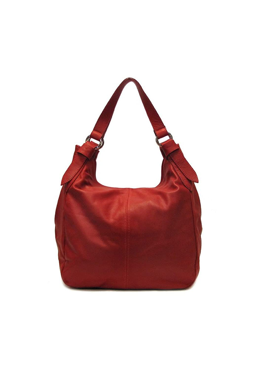 Amazon.com: Siena Leather Hobo Shoulder Bag in Red: Shoes