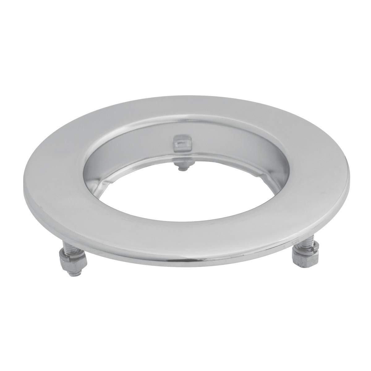 GG Grand General 87218 Chrome LED Light Clear Steel Flange Mount Rim with 3 Studs for Gg 2.5