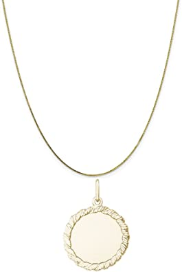 Rembrandt Charms Disc Charm 10K Yellow Gold