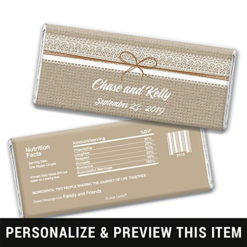 Personalized Wedding Favors Chocolate Bar Wrappers for Hershey's
