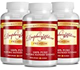 Raspberry Ketone Premium: 100% PURE Raspberry Ketones - 500mgs - 180 Capsules - 3 Month Supply - Quick Fat Burner