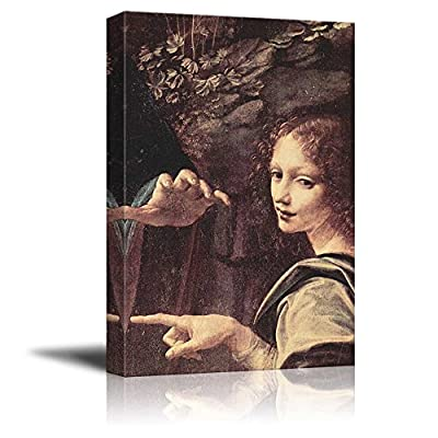 Dazzling Picture, Created By a Professional Artist, Virgin of The Rocks (Detail) by Leonardo Da Vinci Print Famous Oil Painting Reproduction