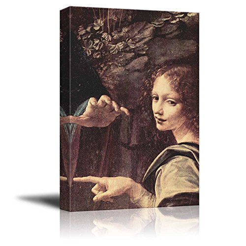 Virgin of the Rocks (Detail) by Leonardo Da Vinci Print Famous Oil Painting Reproduction