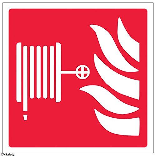 vsafety 13013 am-s logotipo de carrete de manguera Fire equipos señ al, vinilo autoadhesivo, cuadrado, 150 mm x 150 mm 150mm x 150mm VSafety Ltd. 13013AM-S