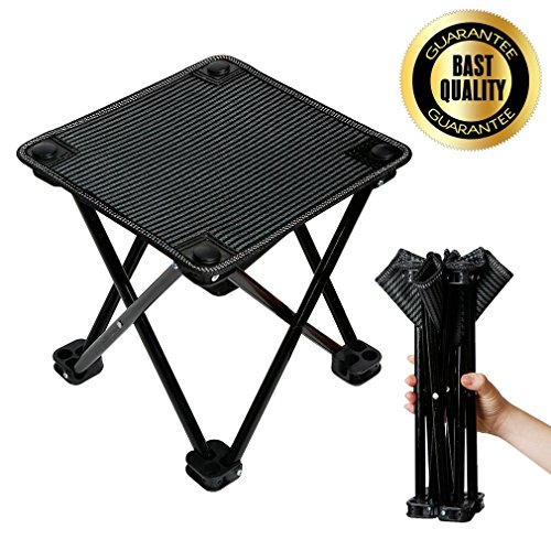 Mini Portable Folding Stool Ultralight Camping Folding Chair Outdoor Fold Chair for Camping Fishing Travel Beach with Carry Bag by MeiLiMiYu