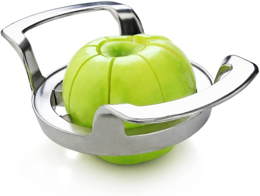 BingGoGo Stainless Steel Apple Slicer, Corer and Divider (Apple Slicer-M)