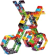 Qubits STEM Construction Set - 100 Pieces: an Open Play Engineering and Building Toy for Kids Ages 4 and Up
