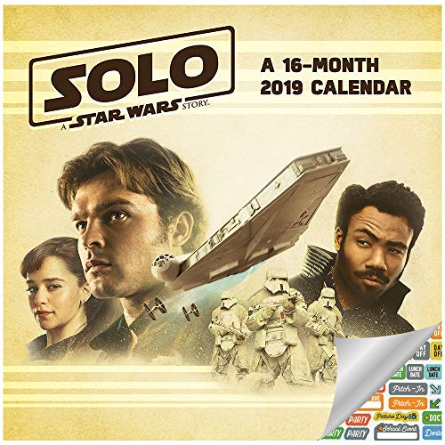 Star Wars - Solo Calendar 2019 Set - Deluxe 2019 Star Wars - Solo Wall Calendar with Over 100 Calendar Stickers (Star Wars - Solo Gifts, Office Supplies)