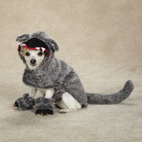Zack and Zoey Big Bad Woof Costume Xlg Grey, My Pet Supplies