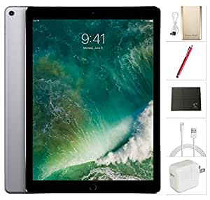 Apple iPad Pro 12.9 inch Wifi + Cellular, 2017 model - 256GB Space Grey + USA Warehouses Accessories Bundle MPA42LL/A