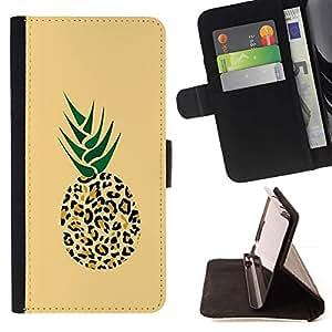 For Apple (5.5 inches!!!) iPhone 6+ Plus / 6S+ Plus Case , 420 Puma Piña Weed Cannabis- la tarjeta de Crédito Slots PU Funda de cuero Monedero caso cubierta de piel