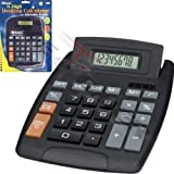 Mascarello®Large Jumbo Calculator Big Button 8-Digit Desktop Math Display Solar Battery