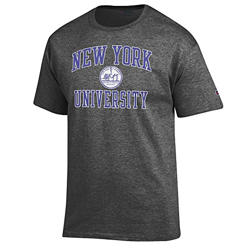 New York University Violets Tshirt Charcoal   L