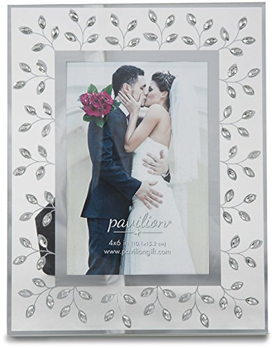 Pavilion Gift Company Glorious Occasions Tree Branch White Crystal Wedding Picture Frame, 4