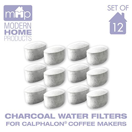 Charcoal Water Coffee Filter Cartridges, Replaces Calphalon Style Water Coffee Filters- Set of 12 by Modern Home Products (Image #1)