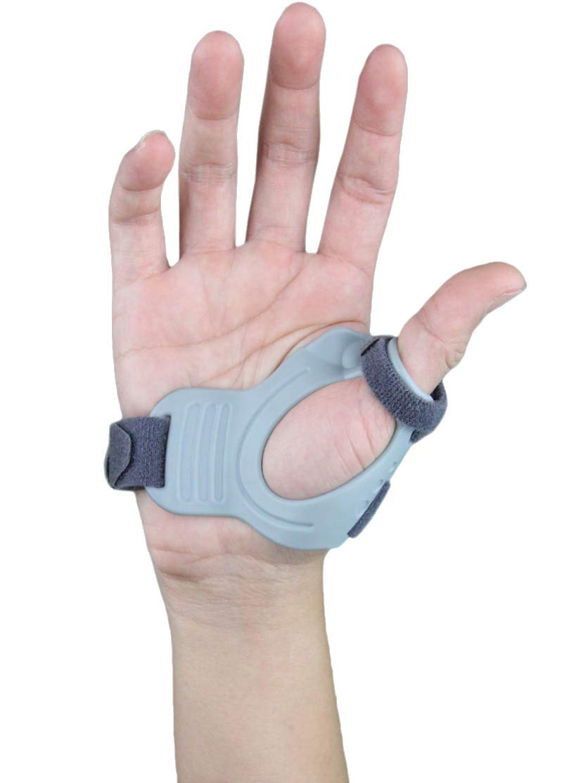 CMC Joint Thumb Arthritis Brace - Restriction Stabilizing Splint for Osteoarthritis and Other Thumb Pain Relief - Medium - Right Hand