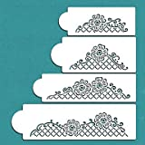 HJLHYL Floral Lace Netting Cake Stencil Set, Wall Stencil Set,Cake Lace Side Plastic Stencil,ST-179