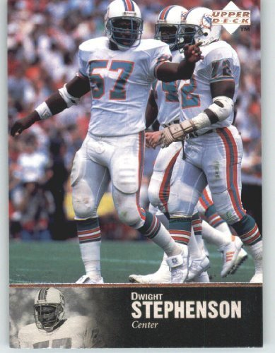 1997 Upper Deck Legends Football Card # 169 Dwight Stephenson - Miami Dolphins - NFL Trading Card