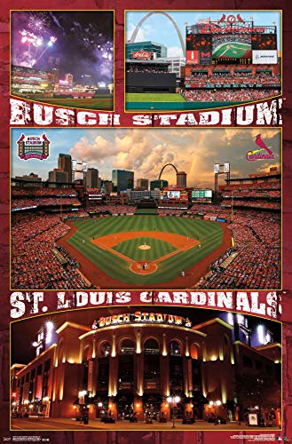 Trends International St. Louis Cardinals-Busch Stadium Mount Bundle Wall Poster 22.375