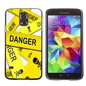 Be Good Phone Accessory // Dura Cáscara cubierta Protectora Caso Carcasa Funda de Protección para Samsung Galaxy S5 SM-G900 // Danger Line Skeleton