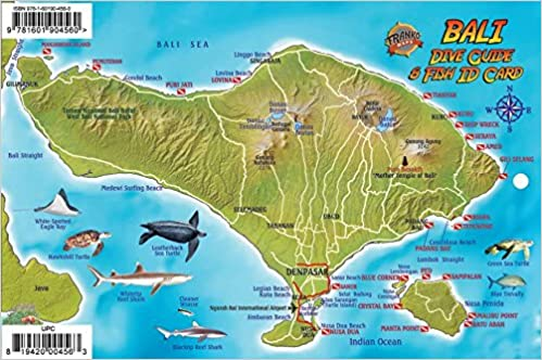 Bali Indonesia Dive Map & Coral Reef Creatures Guide Franko Maps ...