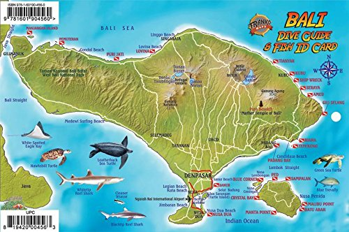 (Bali Indonesia Dive Map & Coral Reef Creatures Guide Franko Maps Laminated Fish Card)