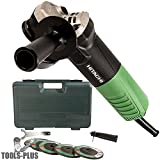 Hitachi G12SR4 6.2-Amp 4-1/2-Inch Angle Grinder with 5 Abrasive Wheels (Discontinued by the Manufacturer)