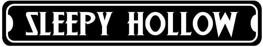 Fhdang Decor Sleepy Hollow Novelty Metal Halloween Street Sign,Metal Sign, 4