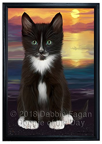 Doggie of the Day Tuxedo Cat  Wall Art
