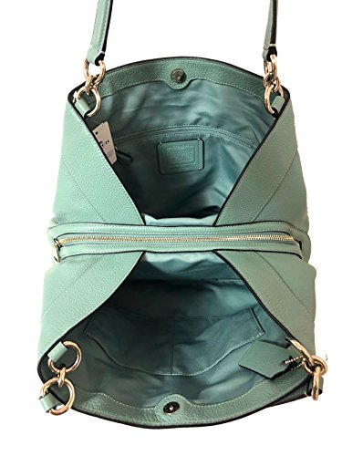 Silver Lexy with Coach Leather Hardware Aqua Sv Black Pebbled Shoulderbag BSSFnqg
