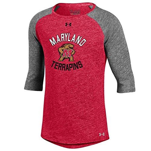Under Armour Girls University of Maryland Terps Baseball Tee (YTH (14-16)) (Maryland Baseball Armour Under)