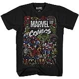 Comics Logo Thor Hulk Iron Man Avengers Spiderman Daredevil Strange Loki Thanos Kids Youth Graphic T-Shirt (Black, Large (18))