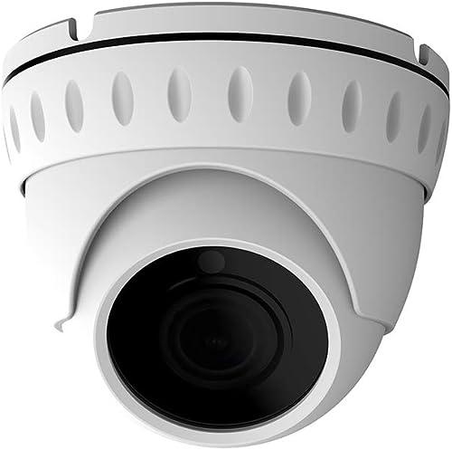LongPlus HD-Tvi 5MP CMOS 4-in-1 CCTV Home Surveillance Ip66 Weatherproof IR Cut Dome Security Camera, White LPHDC5MDM