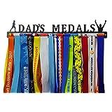 Crownyard Running Medal Holder - Dad's Medals Display | Medal Hanger Unique Running Dad