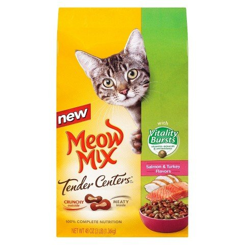 Meow Mix Tender Centers Salmon & Turkey Flavors with Vitalit
