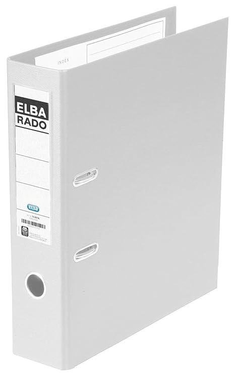 Elba Rado Plast - Archivador palanca en PVC, A4, color blanco