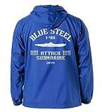 Arpeggio of Blue Steel - Ars Nova - Lee -401 Hooded Windbreaker Blue ~ White Size: M