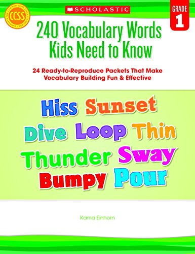 Scholastic 240 Vocabulary Words Kids Need to Know, Grade ()