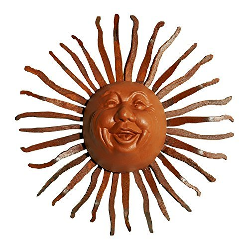 Sun Face Design - Little Happy Sun Face on Bent Ray