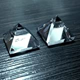 1 Piece Natural Rock Crystal Quartz Pyramid Triangle 2 inches