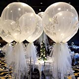 Katoot@ 6Pcs/Lot 36'' Large Latex Ballons Oval Balloon Transparent Clear Helium Balloons Wedding Party Events DIY Decoration Supplies