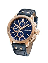 TW Steel ' CEO Adesso' Quartz Stainless Steel Casual Watch, Color:Blue (Model: CE7015)