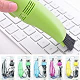 Shag Plastic Mini Vacuum Cleaner with USB 2.0 Compatibility for Laptop and Computer(Multicolour)
