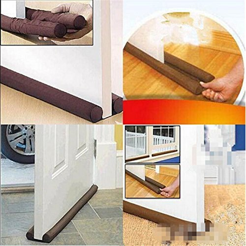 OrliverHL Home Cloth Door Stopper Works on All Floor Surfaces (Double Sided Door Draft Stopper)