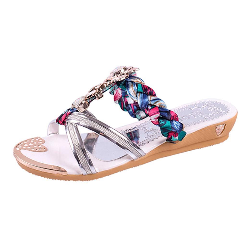 Sunnywill Mens Sandales de Plage /évider Pantoufles Respirantes Occasionnels Flip Flop Flats Chaussures