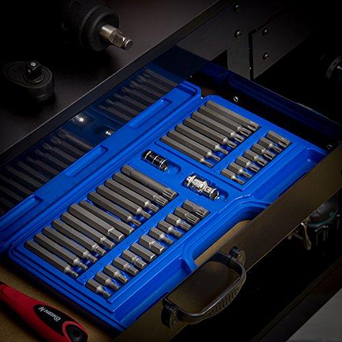 Neiko 10280B Combination Hex, Torx, and XZN Triple Square Driver Socket Bit Set | 40-Piece Set by Neiko (Image #5)