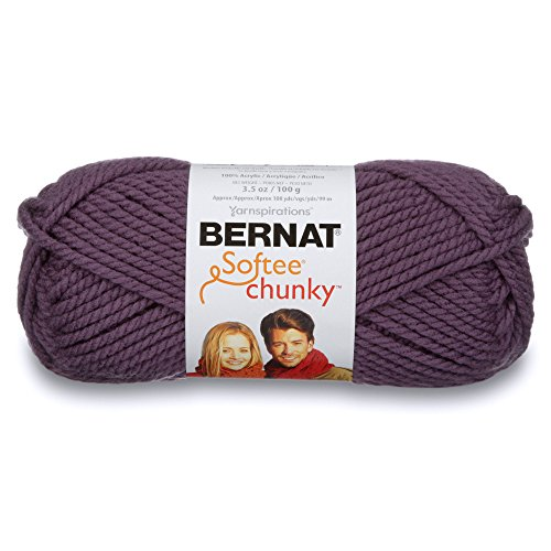 Bernat Softee Chunky Yarn, 3.5 Oz, Gauge 6 Super Bulky, Dark ()