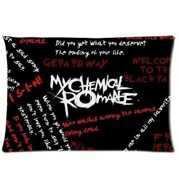 Design Pillowcase Rectangle: Amazon com  My Chemical Romance Pillowcase Rectangle Zippered Two    ,